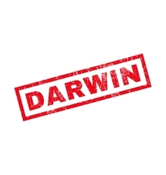 Darwin Rubber Stamp vector image