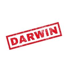 Darwin Rubber Stamp vector