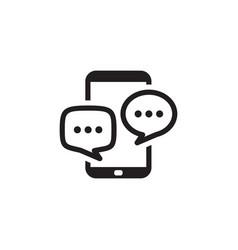 Discussion icon business concept flat design vector