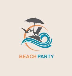 emblem summer vacation vector image