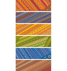 Ethnic Ornamental Banners Set vector image