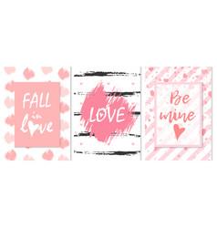 fall in love love be mine romantic graffiti vector image