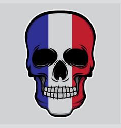 france flag head skull vector image