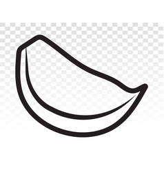 Garlic cloves line art icon for apps and websites vector