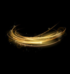 golden abstract transparent vector image