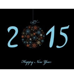 Happy New Year 2015 greeting card vector image