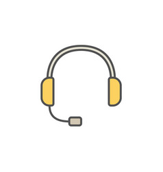 Headset colorful icon - customer service vector