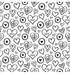 hearts pattern love new-01 vector image