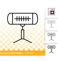 Heater infrared simple black line icon vector