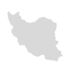 iran caspian map republic middle east vector image