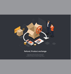 Isometric product refund or vector