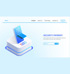 isometric security payment and data protection vector image