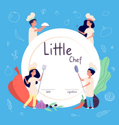 kids cook background kids cooks background vector image
