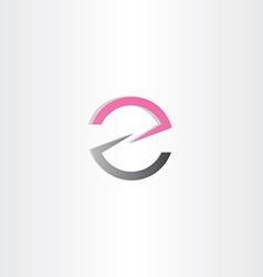letter z or e logotype vector image