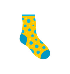 Lost sock icon flat style vector