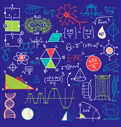 Mathematical scientific pattern with geometry vector