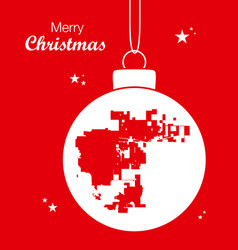 merry christmas theme with map of aurora colorado vector image
