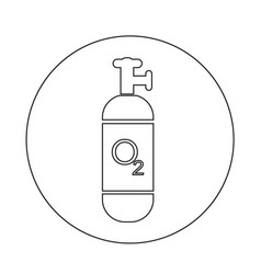oxygen cylinder icon design vector image