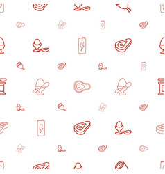protein icons pattern seamless white background vector image