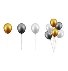 realistic glossy metallic gold black vector image
