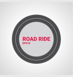 road type vertical straight asphalt road vector image