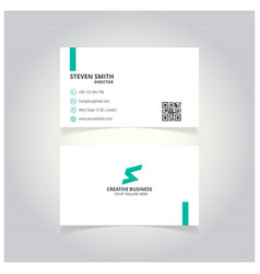 s letter man logo minimal corporate business card vector image