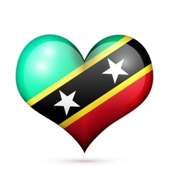 Saint Kitts and Nevis Heart flag icon vector image