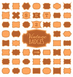 SET 2 50 vintage badges vector image
