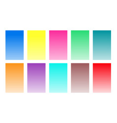 set gradient back watercolor color palette vector image