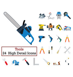 set of 24 tools icons vector image