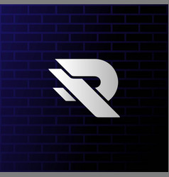 Simple initial letter r monogram logo design vector
