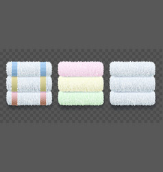 Stacks towels hygiene vector