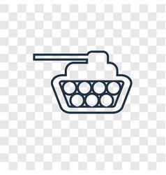 Tank concept linear icon isolated on transparent vector
