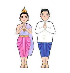 Thai cloth vector