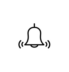 Thin line bell icon vector