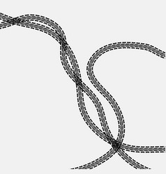 Three tire tracks vector