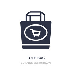 Tote bag icon on white background simple element vector