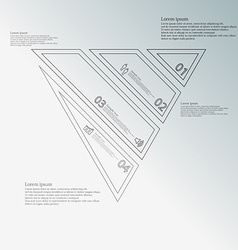 Triangle infographic template created by four grey vector