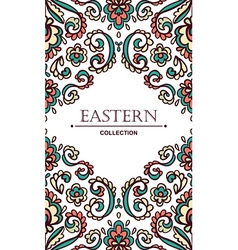 Vintage ornate card with eastern floral elements vector