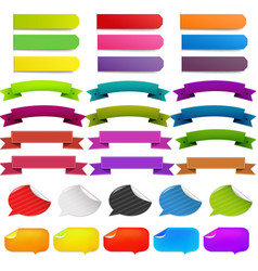 web ribbon big set vector image