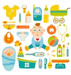Baby Health Decorative Icons Set vector image