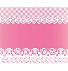 lace papercut frame vector image