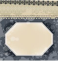 Vintage frame on blot background vector image vector image