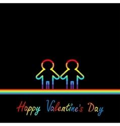 Happy Valentines Day Love card Gay marriage vector image vector image