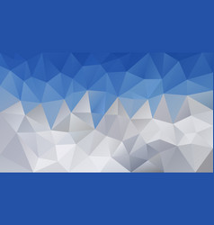 triangular polygonal background sky blue mountains vector image vector image