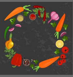 vegetables and ingredients vector image