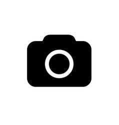 camera icon in flat style vector image vector image