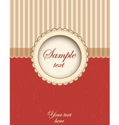 Card template design vector image