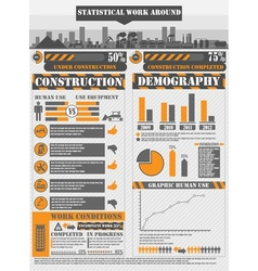 INFOGRAPHIC WORK ORANGE vector image