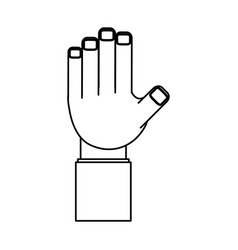 isolated web hand connection vector image vector image
